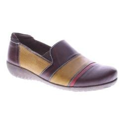 Women's L'Artiste by Spring Step Pineapple Slip-on Brown Multi Leather
