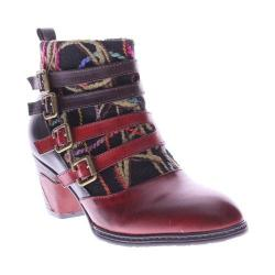Women's L'Artiste by Spring Step Redding Ankle Boots Red Multi Leather