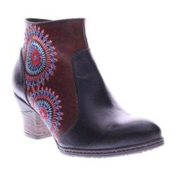 Women's L'Artiste by Spring Step Remarkable Ankle Boots Black Multi Leather