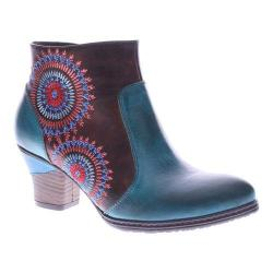 Women's L'Artiste by Spring Step Remarkable Ankle Boots Turquoise Multi Leather