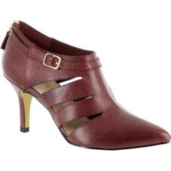 Women's Bella Vita Dylan Cut Out Heel Burgundy Leather