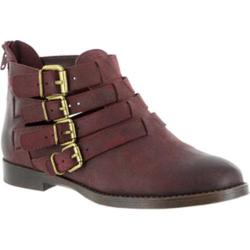 Women's Bella Vita Ronan Buckle Bootie Burgundy Leather