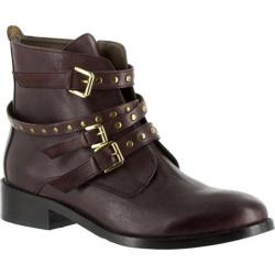 Women's Bella Vita Mod Italy Buckle Bootie Burgundy Leather