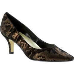 Women's Bella Vita Wow Black Leather/Bronze Camo Leather