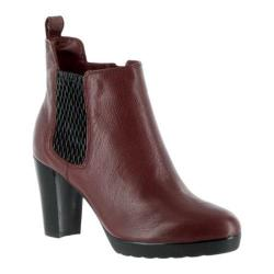 Women's Bella Vita Zana Chelsea Bootie Burgundy Leather/Black Gore