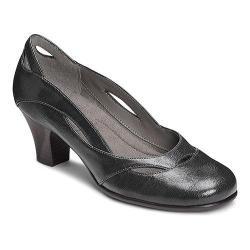 Women's A2 by Aerosoles Aribesque Cutout Pump Black Faux Leather