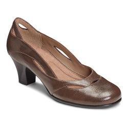 Women's A2 by Aerosoles Aribesque Cutout Pump Brown Faux Leather