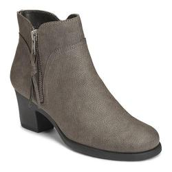 Women's Aerosoles Acrobatic Ankle Boot Grey Snake Faux Leather