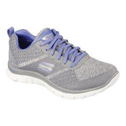 Women's Skechers Flex Appeal Training Shoe Simply Sweet Gray/Purple