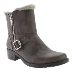 Women's Anne Klein Lyvia Ankle Boot Dark Taupe/Dark Taupe Synthetic