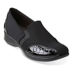 Women's Clarks Gael Beam Loafer Black Synthetic