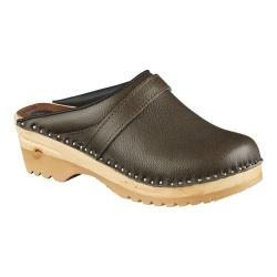 Women's Troentorp Bastad Clogs Chef Field Gray Leather