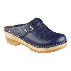 Women's Troentorp Bastad Clogs Julius Blue Leather