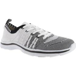 Women's Anne Klein Weekend Sneaker White/Black Multi Fabric