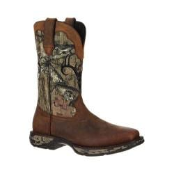 Men's Durango Boot DDB0058 12in Pull-On Rebel Waterproof Distressed Brown/Camo Leather Nylon