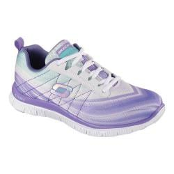 Women's Skechers Flex Appeal Pretty Please Purple/Green