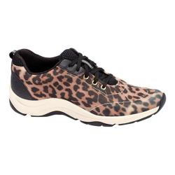 Women's Vionic with Orthaheel Technology Action Tourney Lace Up Tan Leopard