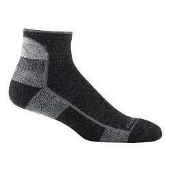Men's Darn Tough Black Cushion 1905 Vermont 1/4 Socks (Set of 2) 15914127
