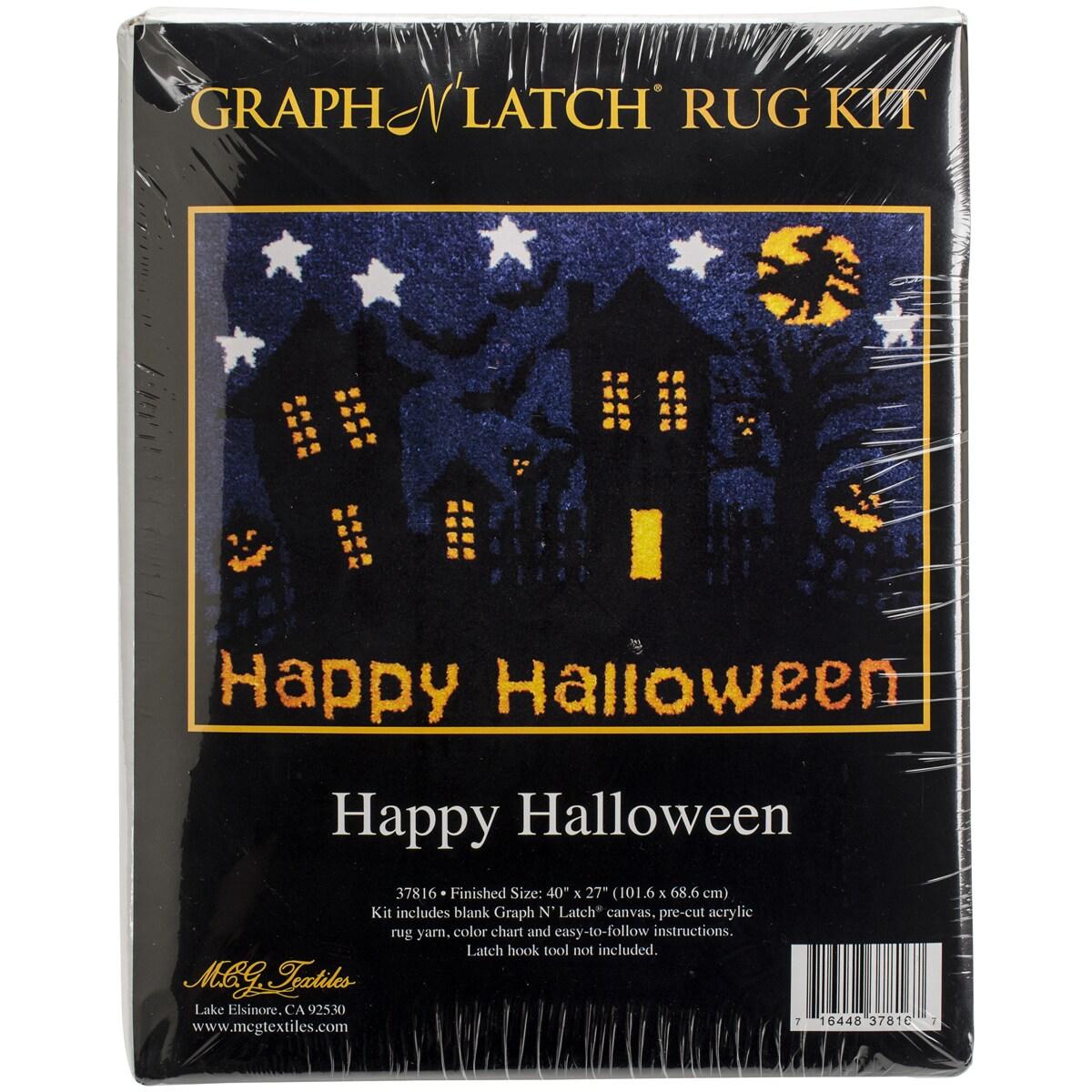 "Latch Hook Kit 40""X27""-Happy Halloween"