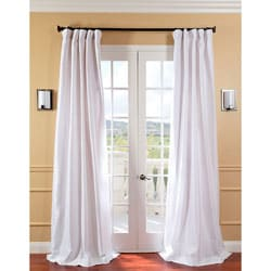 Signature White Faux Silk Curtain Panel Item