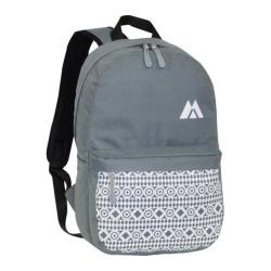 Everest Printed Pattern Backpack Dark Grey