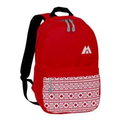 Everest Printed Pattern Backpack Red