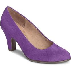 Women's Aerosoles Tapestry Pump Purple Faux Suede