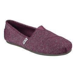 Women's Skechers BOBS Plush Express Yourself Alpargata Wine