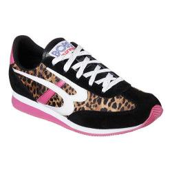 Women's Skechers BOBS Sunset Cats Eye Sneaker Black/White/Pink