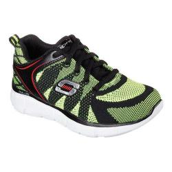 Boys' Skechers Equalizer Quick Reaction Sneaker Black/Yellow