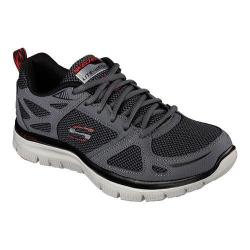 Men's Skechers Flex Advantage First Team Training Shoe Charcoal/Red