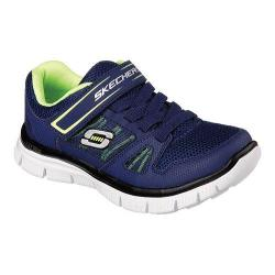 Boys' Skechers Flex Advantage Master Dash Sneaker Navy/Yellow