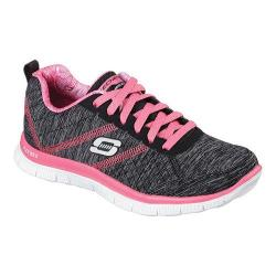 Women's Skechers Flex Appeal Pretty City Training Shoe Black/Hot Pink