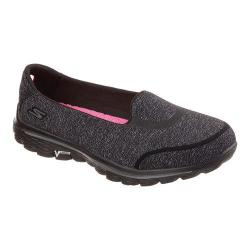 Women's Skechers GOwalk 2 Super Sock Bind Slip On Black