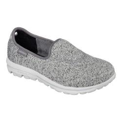 Women's Skechers GOwalk Stitch Slip On Light Gray