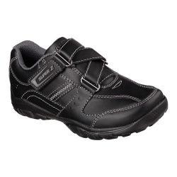 Boys' Skechers Relaxed Fit Grambler Zeem Z-Strap Shoe Black/Black