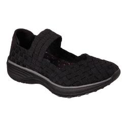 Women's Skechers Relaxed Fit Interstellar Woven Up Mary Jane Black