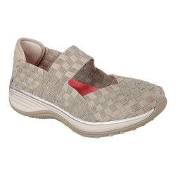 Women's Skechers Relaxed Fit Interstellar Woven Up Mary Jane Taupe