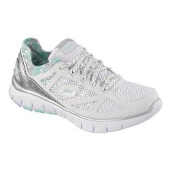 Women's Skechers Relaxed Fit Skech-Flex Ultimate Reality White/Mint