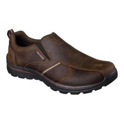 Men's Skechers Relaxed Fit Superior Misko Slip On Dark Brown