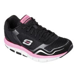 Women's Skechers Shape-ups 2.0 Liv High Line Sneaker Black/Hot Pink