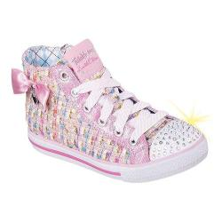 Girls' Skechers Twinkle Toes Chit Chat Sweet Seekers High Top Pink