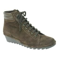 Women's The Flexx Mel Rose Wedge Bootie Ebony Suede