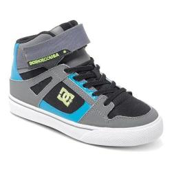 Boys' DC Shoes Spartan EV High-Top Black/Armor/Turquoise