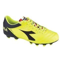 Men's Diadora Italica 3 K-Pro MG 14 Soccer Cleat Yellow Fluo/Diadora Black