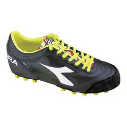 Men's Diadora Italica 3 LT MD PU 25 Soccer Cleat Black/White 16117367
