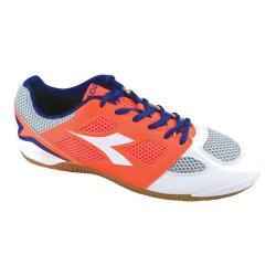Men's Diadora Quinto V ID Soccer Shoe White/Fluo Red