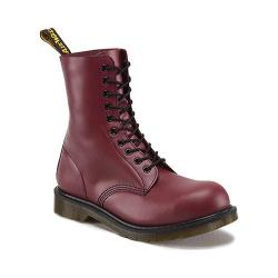Dr. Martens 1919 10-Eye Steel Cap Boot Cherry Red Smooth