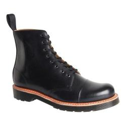 Men's Dr. Martens Charlton 8-Eye Toe Cap Boot Black Polished Smooth