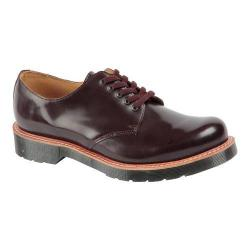 Men's Dr. Martens Leigh 5-Eye Toe Cap Shoe Oxblood Polished Smooth